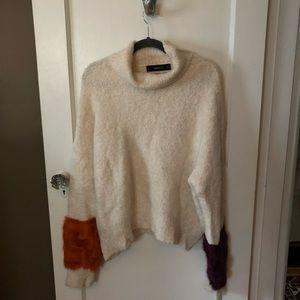 Zara fur cuff sweater